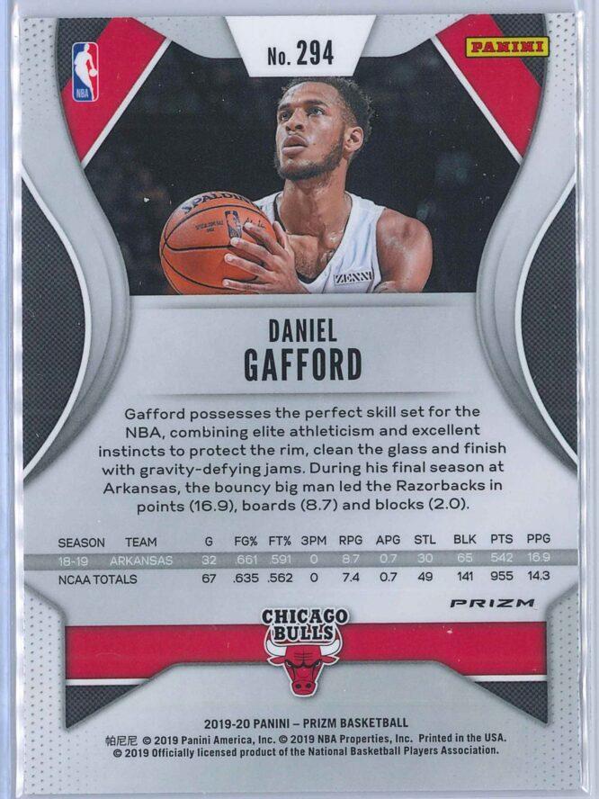 Daniel Gafford Panini Prizm Basketball 2019 20 Base Orange Ice Parallel RC 2