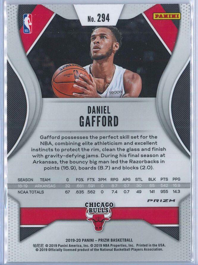 Daniel Gafford Panini Prizm Basketball 2019 20 Base Red Ice Parallel RC 2