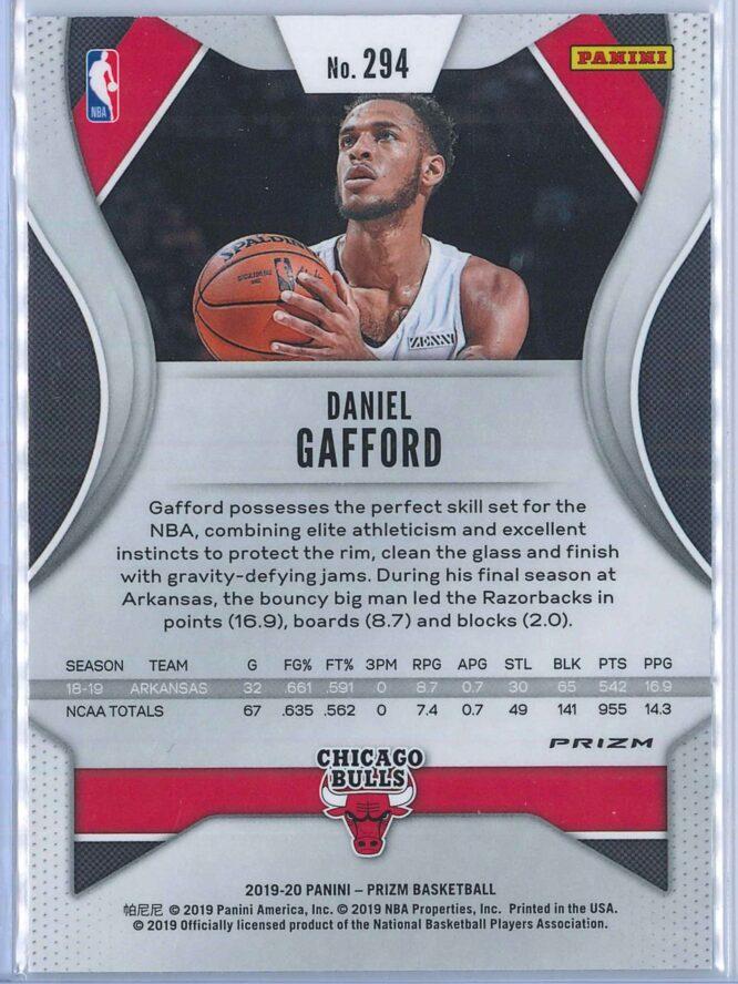 Daniel Gafford Panini Prizm Basketball 2019 20 Base Silver RC 2