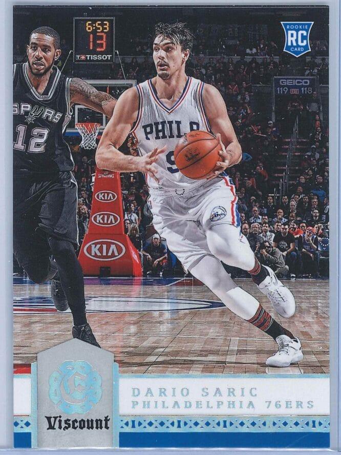 Dario Saric Panini Excalibur Basketball 2016-17 Base Viscount Parallel  RC