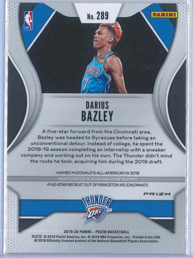 Darius Bazley Panini Prizm Basketball 2019 20 Base Red Ice Parallel RC 2