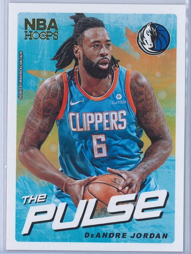 DeAndre Jordan Panini NBA Hoops Basketball 2018-19 The Pulse Winter Parallel