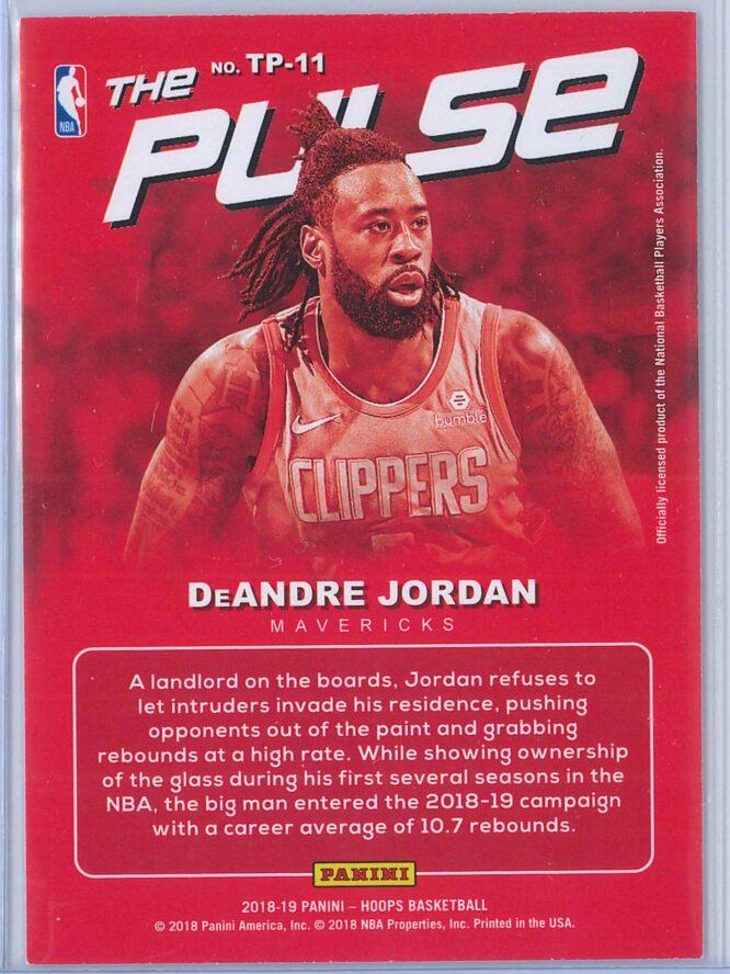 DeAndre Jordan Panini NBA Hoops Basketball 2018 19 The Pulse Winter Parallel 2