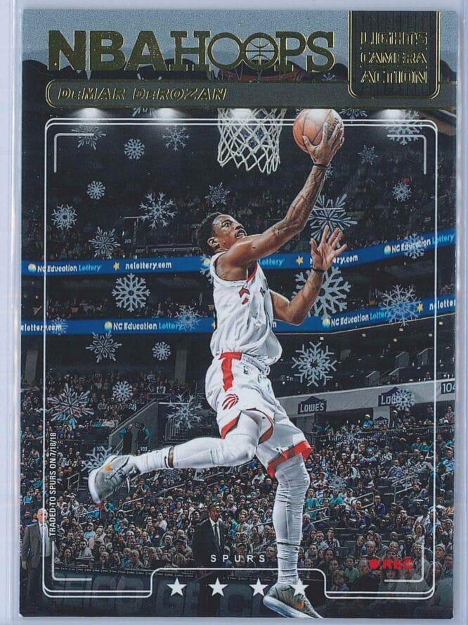 DeMar DeRozan Panini NBA Hoops Basketball 2018-19 Lights Camera Action Winter Parallel