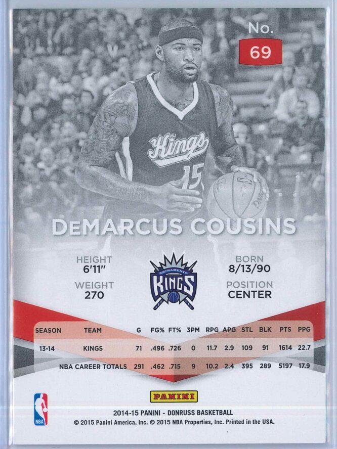 DeMarcus Cousins Panini Donruss Basketball 2014 15 Elite 2