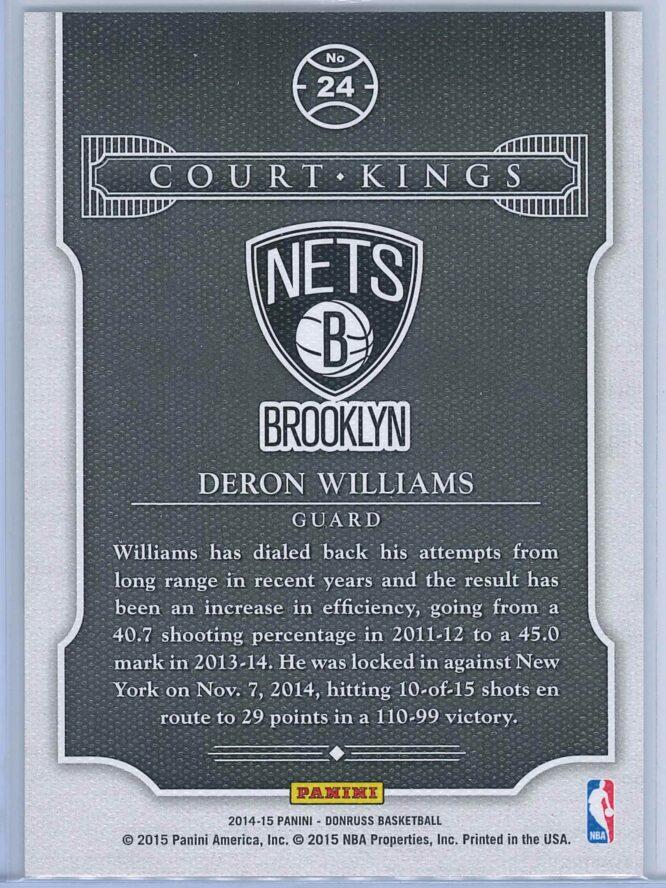 Deron Williams Panini Donruss Basketball 2014 15 Court Kings 2