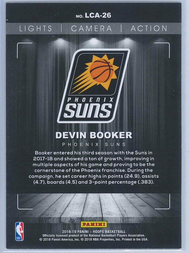Devin Booker Panini NBA Hoops Basketball 2018 19 Lights Camera Action Winter Parallel 2