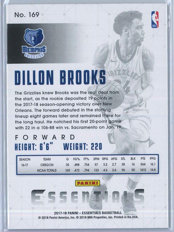 Dillon Brooks Panini Essentials Basketball 2017 18 Base Spiral RC 2