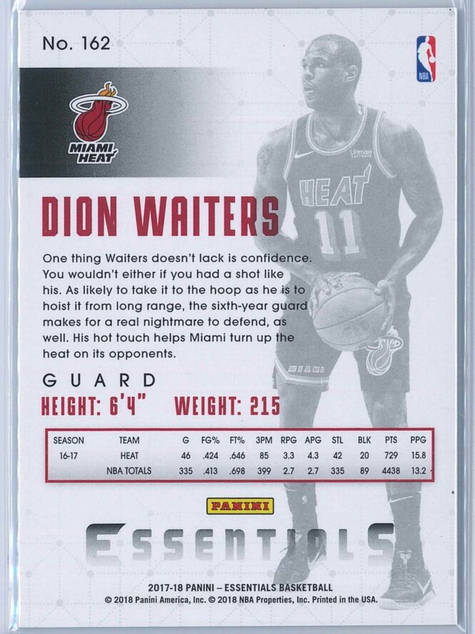 Dion Waiters Panini Essentials Basketball 2017 18 Base Green 2