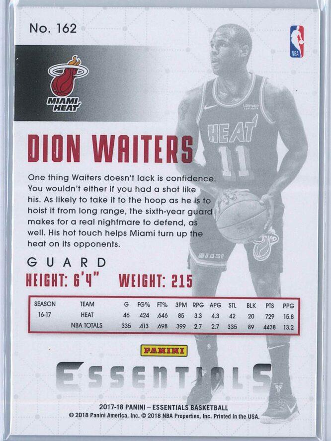 Dion Waiters Panini Essentials Basketball 2017 18 Base Spiral 2