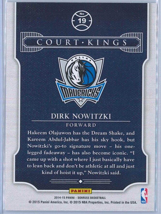 Dirk Nowitzki Panini Donruss Basketball 2014 15 Court Kings 2