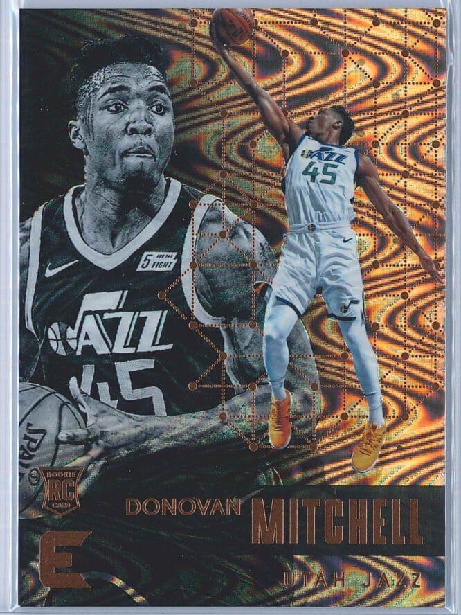 Donovan Mitchell Panini Essentials Basketball 2017-18 Base Spiral  RC
