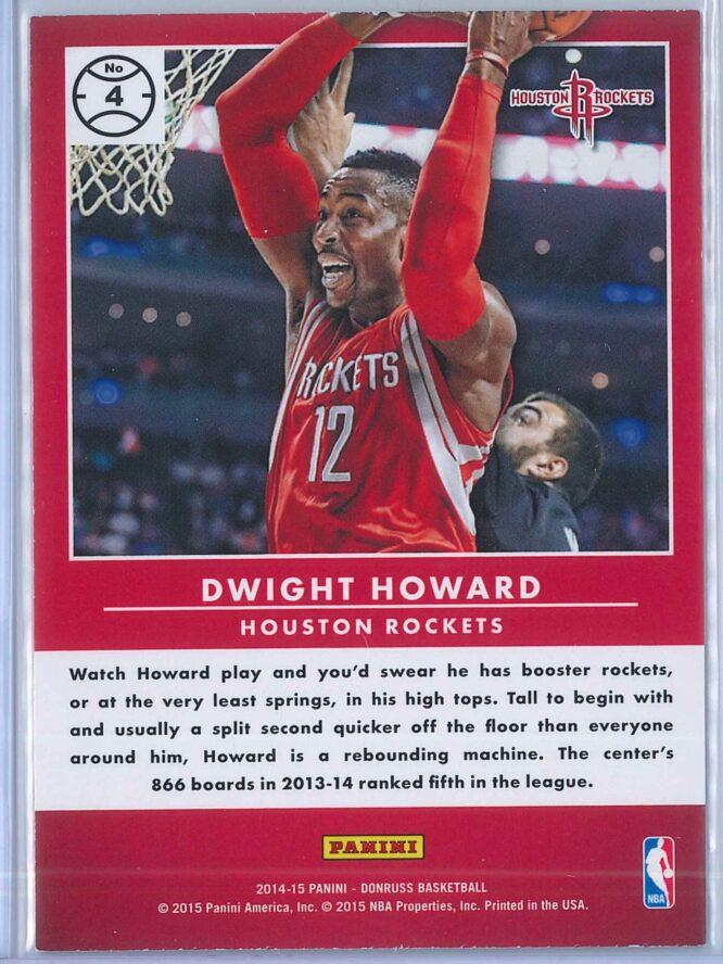 Dwight Howard Panini Donruss Basketball 2014 15 Production Line 2