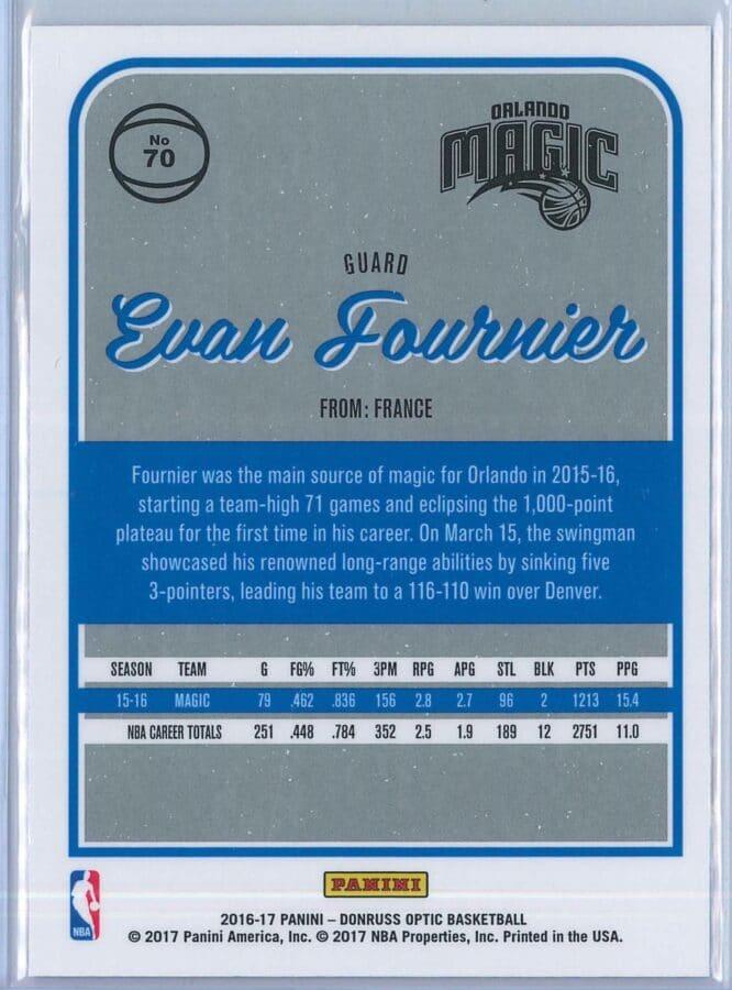 Evan Fournier Panini Donruss Optic Basketball 2016 17 Base 2