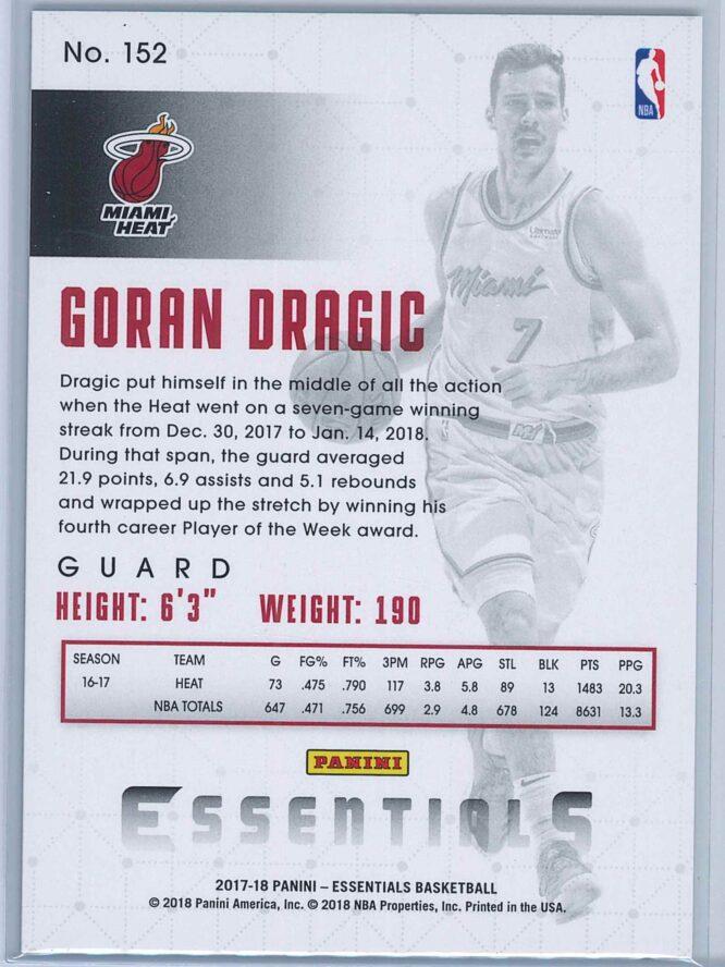 Goran Dragic Panini Essentials Basketball 2017 18 Base Green 2