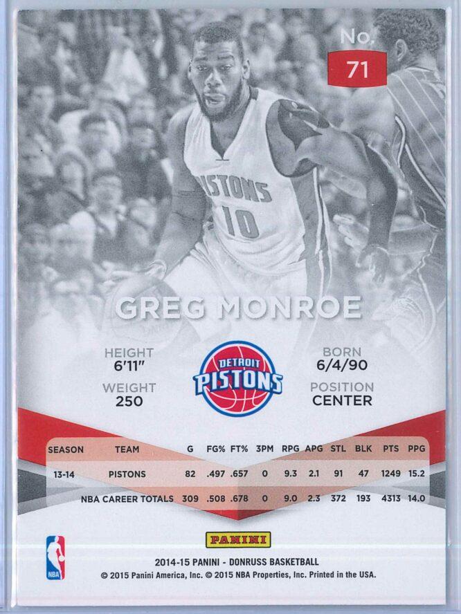 Greg Monroe Panini Donruss Basketball 2014 15 Elite 2