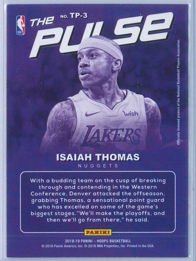 Isaiah Thomas Panini NBA Hoops Basketball 2018 19 The Pulse Winter Parallel 2