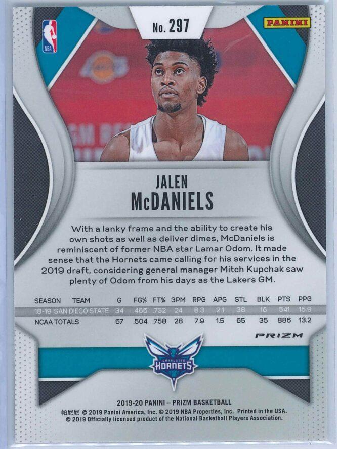 Jalen McDaniels Panini Prizm Basketball 2019 20 Base Silver RC 2