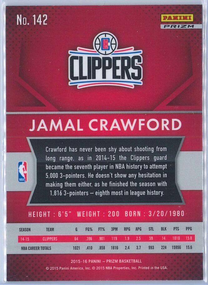 Jamal Crawford Panini Prizm Basketball 2015 16 Base Red White Blue Parallel 2