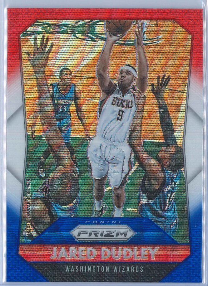 Jared Dudley Panini Prizm Basketball 2015-16 Base Red White Blue Parallel
