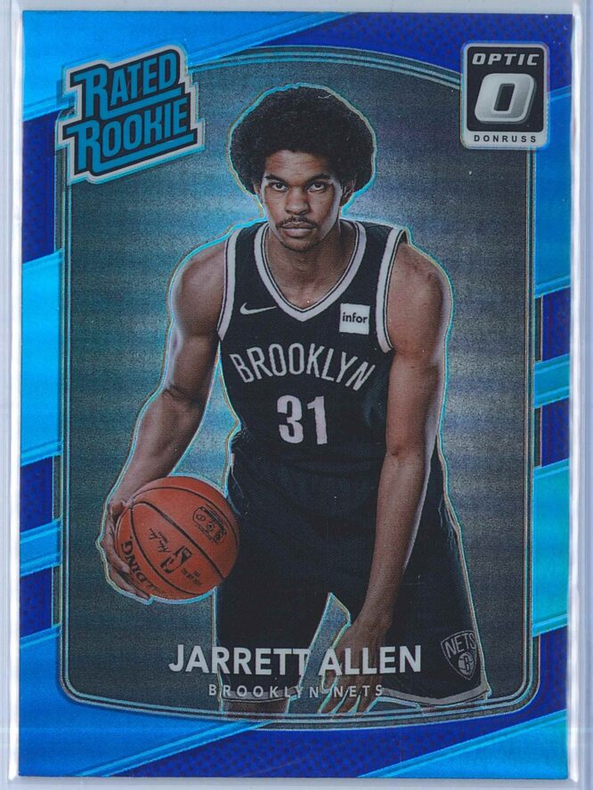 Jarrett Allen Panini Donruss Optic Basketball 2017-18 Rated Rookie Purple Parallel