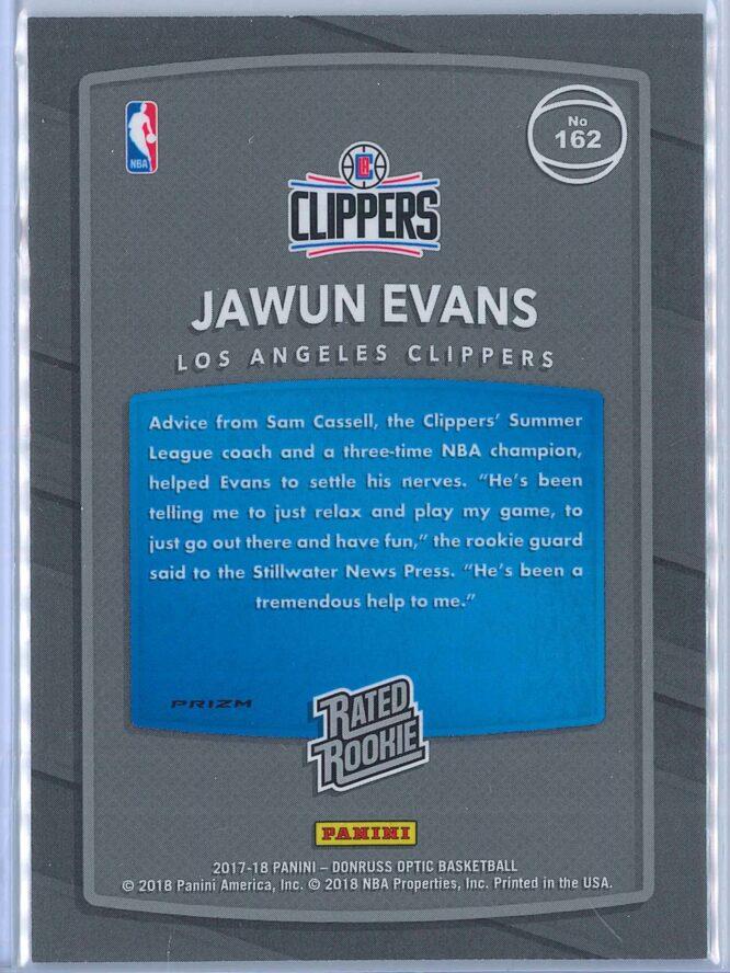 Jawun Evans Panini Donruss Optic Basketball 2017 18 Rated Rookie Holo Fast Break Parallel 2