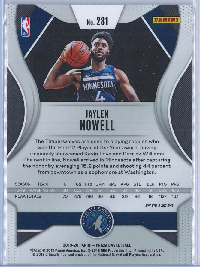 Jaylen Nowell Panini Prizm Basketball 2019 20 Base Pink Ice Parallel RC 2