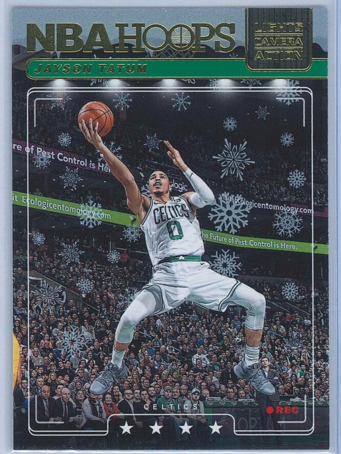 Jayson Tatum Panini NBA Hoops Basketball 2018-19 Lights Camera Action Winter Parallel