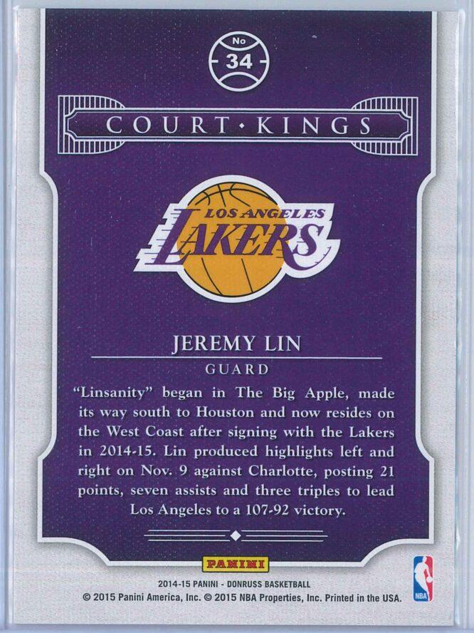 Jeremy Lin Panini Donruss Basketball 2014 15 Court Kings 2