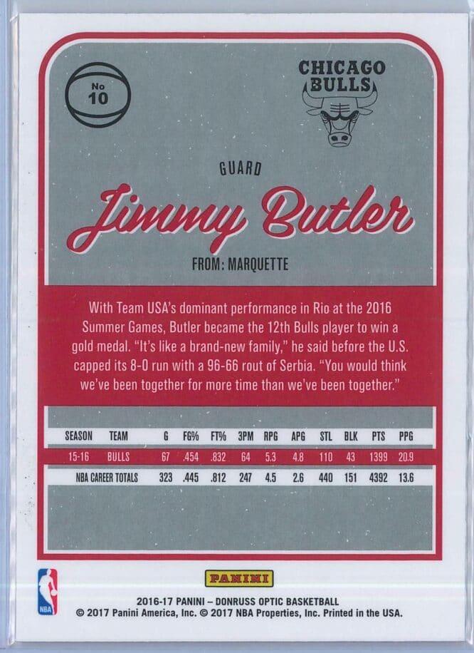 Jimmy Butler Panini Donruss Optic Basketball 2016 17 Base 2
