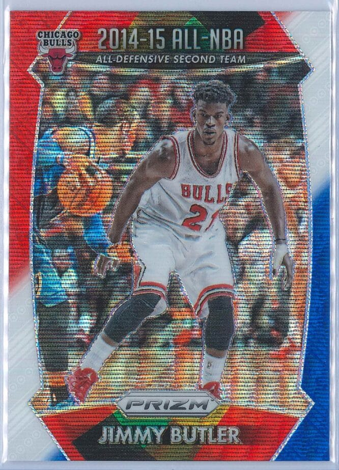 Jimmy Butler Panini Prizm Basketball 2015-16 2014-15 All-NBA Red White Blue Parallel