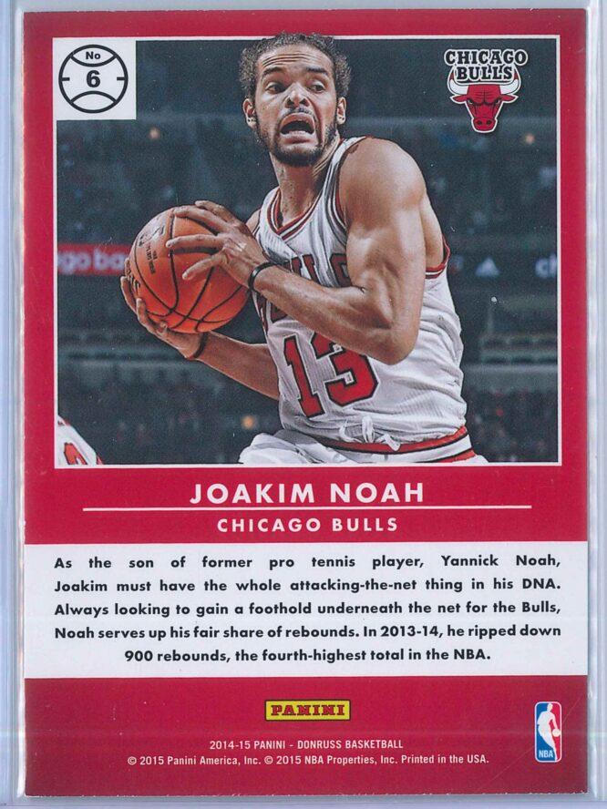Joakim Noah Panini Donruss Basketball 2014 15 Production Line 2