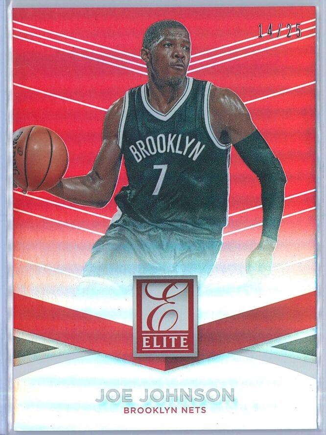 Joe Johnson Panini Donruss Basketball 2014 15 Elite Red 1425 1