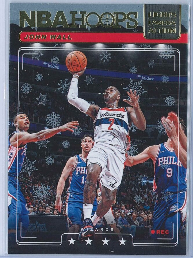 John Wall Panini NBA Hoops Basketball 2018-19 Lights Camera Action Winter Parallel
