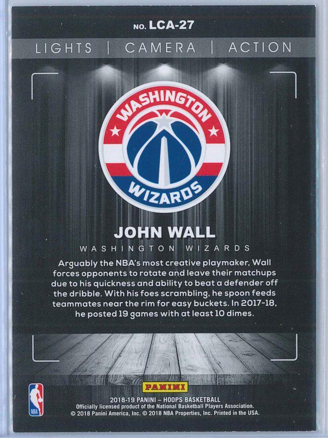 John Wall Panini NBA Hoops Basketball 2018 19 Lights Camera Action Winter Parallel 2