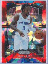 Jordan Bone Panini Prizm Basketball 2019-20 Base Red Ice Parallel  RC