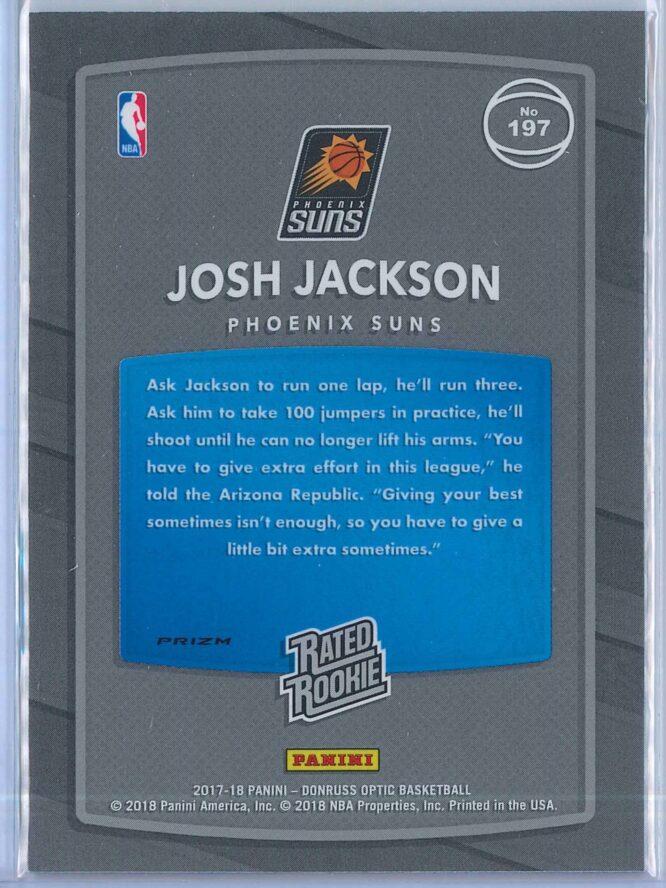 Josh Jackson Panini Donruss Optic Basketball 2017 18 Rated Rookie Holo Fast Break Parallel 2