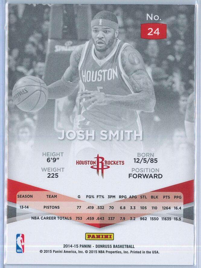 Josh Smith Panini Donruss Basketball 2014 15 Elite Blue 9699 2