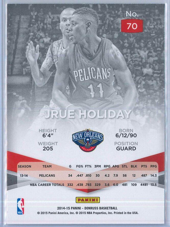 Jrue Holiday Panini Donruss Basketball 2014 15 Elite 2