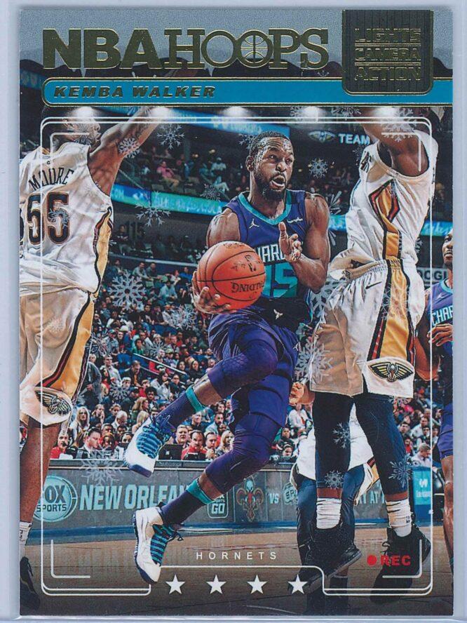 Kemba Walker Panini NBA Hoops Basketball 2018-19 Lights Camera Action Winter Parallel
