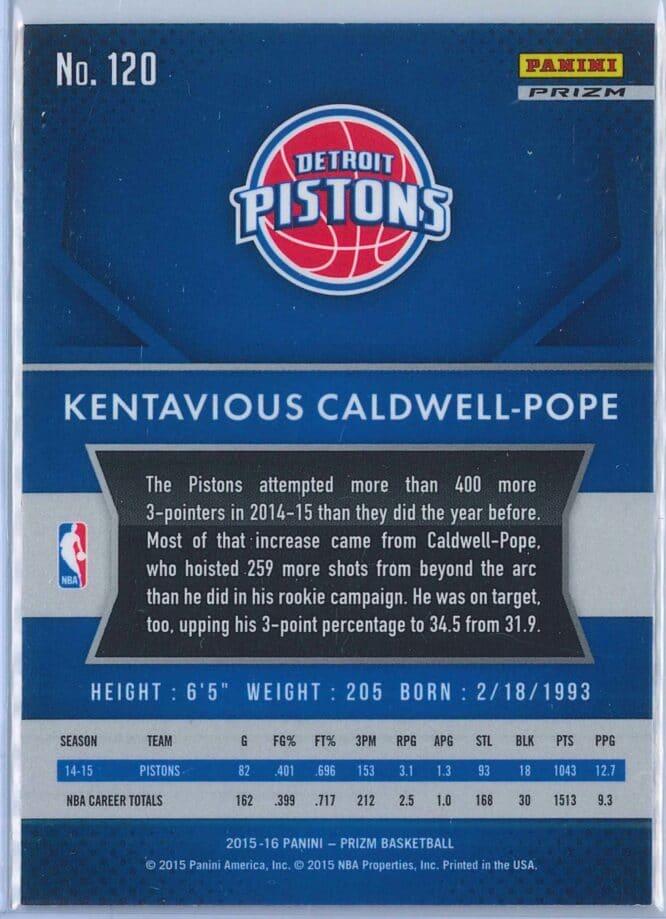 Kentavious Caldwell Pope Panini Prizm Basketball 2015 16 Base Red White Blue Parallel 2