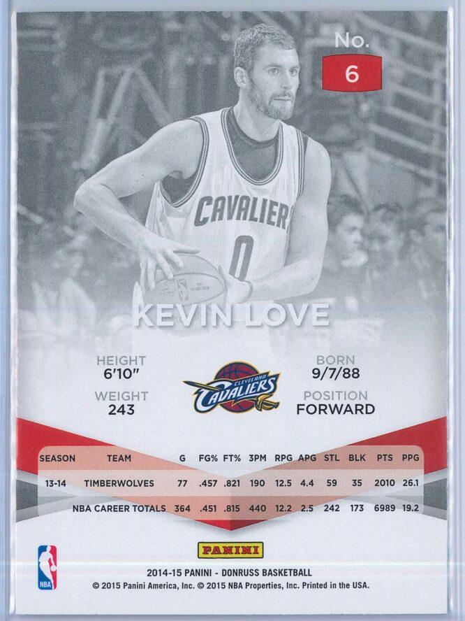 Kevin Love Panini Donruss Basketball 2014 15 Elite 2