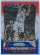 Kevin Love Panini Prizm Basketball 2015-16 Base Red White Blue Parallel
