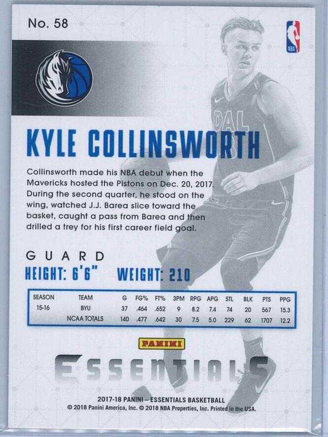 Kyle Collinsworth Panini Essentials Basketball 2017 18 Base Spiral RC 2