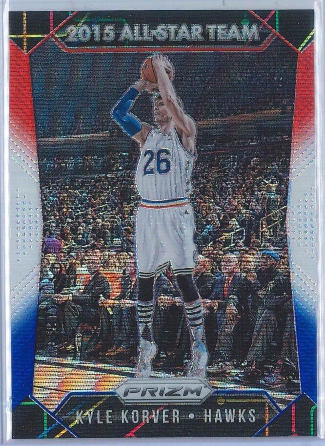 Kyle Korver Panini Prizm Basketball 2015-16 2015 All-Star Team Red White Blue Parallel