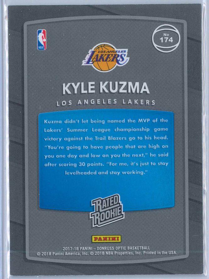 Kyle Kuzma Panini Donruss Optic Basketball 2017 18 Rated Rookie 2