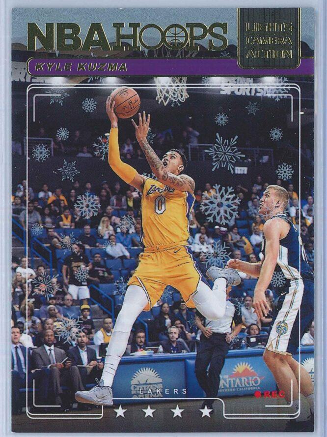 Kyle Kuzma Panini NBA Hoops Basketball 2018-19 Lights Camera Action Winter Parallel