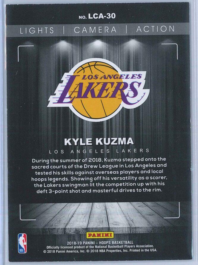 Kyle Kuzma Panini NBA Hoops Basketball 2018 19 Lights Camera Action Winter Parallel 2