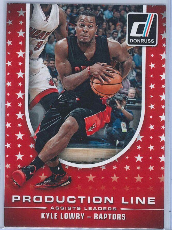 Kyle Lowry Panini Donruss Basketball 2014-15 Production Line