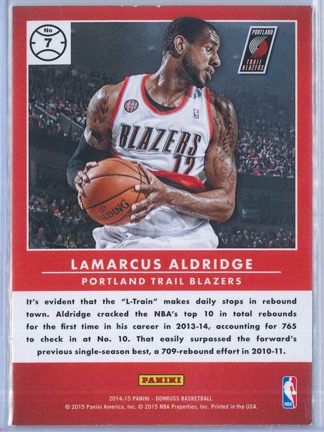 LaMarcus Aldridge Panini Donruss Basketball 2014 15 Production Line 2